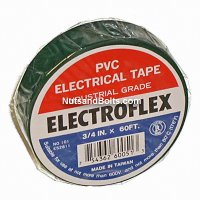 Color Coding Tape / PVC Electrical Tape - GREEN - Qty (1 roll)
