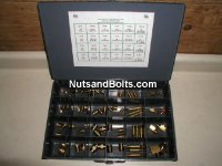 Brass Pipe Fitting Assortment - 64 pieces