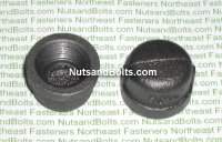 1/2 Black Pipe Cap Qty (1)