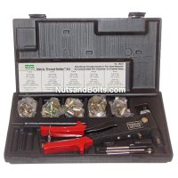 Metric Steel Poly-Nut Threaded Insert Kit with Setting Tool (Gun)