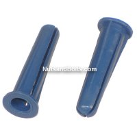 #10 - 12 Plastic Conical Wall Anchors Qty (100)