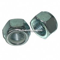 Metric Nylon Lock Nuts Coarse