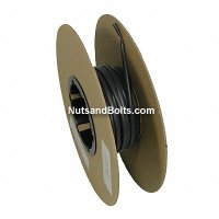 3/16 Inch x 25 Foot Thin Single Wall Black Heat Shrink Tubing Roll