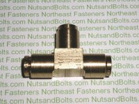 1/4 Push To Connect Brass Union Tee Pipe Fitting Qty (1)