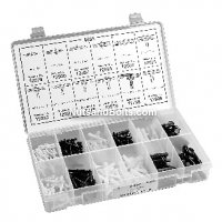 Auveco Zinc Plated Spring Pin Assortment - 174 Pieces