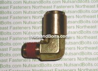1/2 to 1/4 Brass 90D Elbow Tube to Male Pipe Fitting Qty (1)