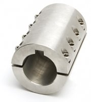 3/4-3/4 Double Split Shaft Coupling Stainless Steel With Keyway Qty(1)
