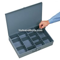 Metal Drawer (Larger) Compartment Drawer - Adjustable Bins