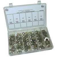 SAE Extra Thick Flat Washer Assortment / Kit - 180 Pieces