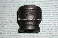 "1"" x 3/4 Black Pipe Reducing Coupling Qty (1)"