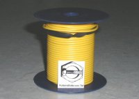 100' Yellow 18 Gauge Primary Wire Qty (1)