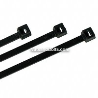 "7"" Nylon Cable Ties - Black - Bulk Pack Qty (1000)"