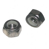 M6 x 1.0 Stainless Metric Nylon Lock Nut Qty (25)