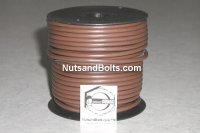 100' Brown 12 Gauge Primary Wire Qty (1)