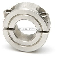 3/8 Double Split Stainless Steel Shaft Collar Qty (1)