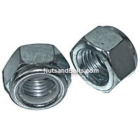 Metric Nylon Lock Nuts, Coarse Thread