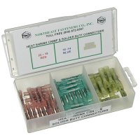 Heat Shrink Crimp & Solder Butt Connector Assortment - 55 pieces