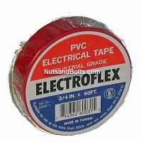 Color Coding Tape / PVC Electrical Tape - RED - Qty (1 roll)