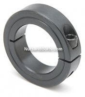 2 3/8 Single Split Steel Shaft Collar Black Oxide Qty (1)