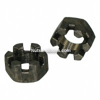 Slotted Hex Nuts Grade 5 Coarse Plain