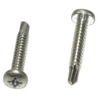 #12 - 1 Phillips Pan Head Drill Point Self Drilling Screws Qty (1)