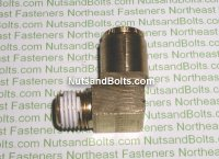 3/8 to 1/4 Brass 90D Elbow Tube to Male Pipe Fitting Qty (1)