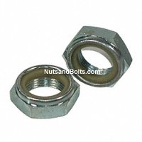 3/8-24 Nylon Jam Nut Fine Qty (100)