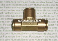 1/2 Push To Connect Brass Union Tee Pipe Fitting Qty (1)