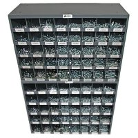 Nut, Bolt, and Washer Assortment Grade 5 Coarse (USS) - 3,129 Pieces