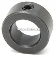 1/8 Inch Set Screw Shaft Collar Black Oxide Qty (10)