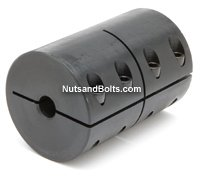 "7/8"" - 0.235"" Single Split Machinable Shaft Coupling No Keyway Qty (1)"