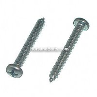 #8 x 2 Phillips Pan Tapping Screws Qty (100)