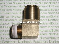 1/2 to 3/8 Brass 90D Elbow Tube to Male Pipe Fitting Qty (1)