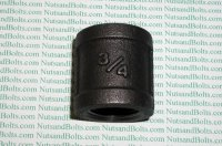 3/4 Black Pipe Coupling Qty (1)