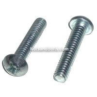 #8-32 x 1 1/2 Phillips Round Head Machine Screws Qty (100)