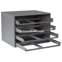 4 Drawer Metal Storage Rack For Small Compartment Boxes