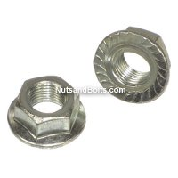 7/16 - 20 Grade 2 Zinc Serrated Flange Hex Lock Nuts Qty (50)