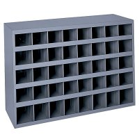 40 Hole Metal Storage Bin - 40 Bins 9 inches Deep