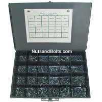 Hex Washer Tapping Screw Assortment - 600 Pieces