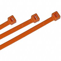 "Nylon Cable Ties - Orange - 7"" Qty(100)"