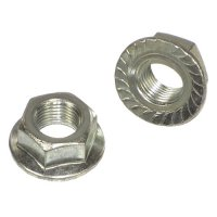 3/8 - 24 Grade 2 Zinc Serrated Flange Hex Lock Nuts Qty (100)