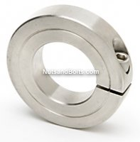 2-7/16 Single Heavy Split Shaft Collar Stainless Steel Qty (1)