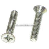 #10-24 x 3/4 Phillips Flat Head Machine Screws Qty (100)