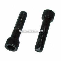 M16 x 2.0 x 40 Metric Socket Cap Screw Gr. 12.9 Plain - Qty (5)