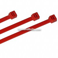 "Nylon Cable Ties - Red - 7"" Qty (100)"