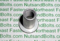 "5/16"" - 18 USS Large Flange Thin Sheet Nutserts Inserts Qty (25)"