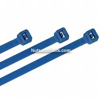 "Nylon Cable Ties - Blue - 7"" Qty(100)"