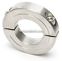 2 Double Heavy Split Shaft Collar Stainless Steel Qty (1)