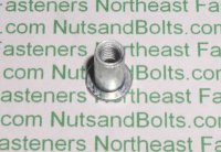 "1/4"" - 20 USS Large Flange Thin Sheet Nutserts Inserts Qty (25)"