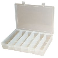Plastic Storage Compartment Box with 6 Compartments